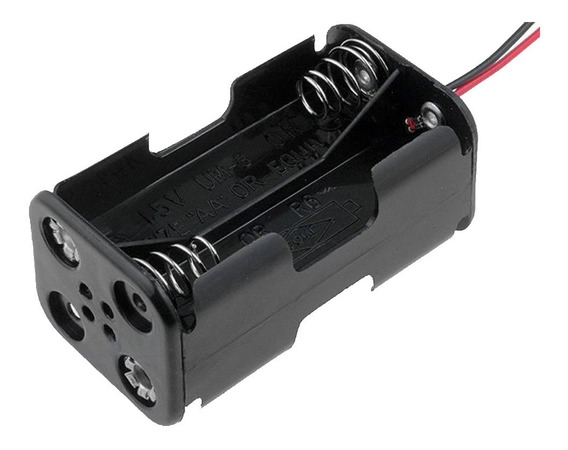 Suporte 4 Pilhas Aa Projetos Eletronico Arduino Pic Raspbery