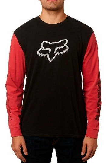 Playera Fox Manga Larga Victory Ls Airline 23060 Rojo