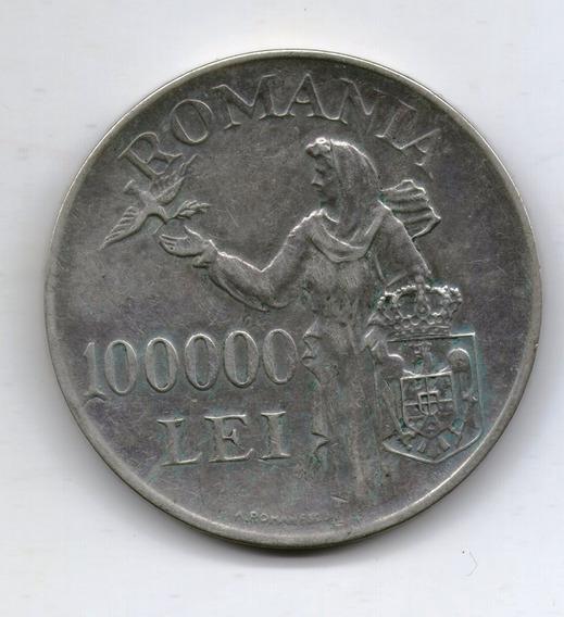 Rumania Moneda 100000 Lei 1946 Plata Km#71 - Argentvs