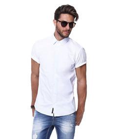 ed7d39838c Camisa Branca Manga Curta King joe