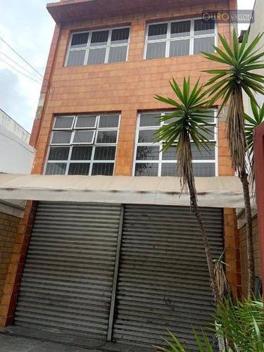 Prédio Para Alugar, 500 M² Por R$ 6.000,00/mês - Mooca - São Paulo/sp - Pr0121