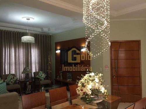 Casa Com 3 Dormitórios À Venda, 131 M² Por R$ 650.000,00 - Residencial E Comercial Palmares - Ribeirão Preto/sp - Ca1086