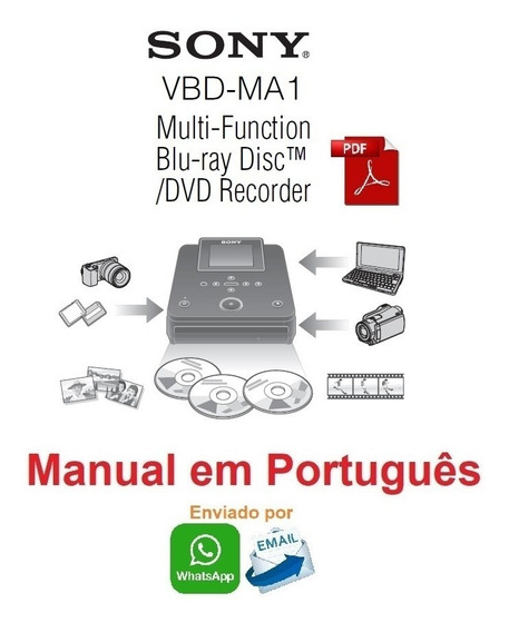 Manual Em Português Do Gravador Blu-ray Sony Vbd-ma1