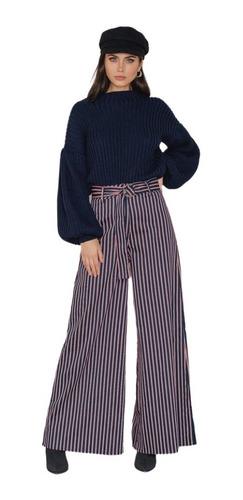 Pantalones Holgados Para Mujer Tipo Trouser Con Estampado Mercado Libre
