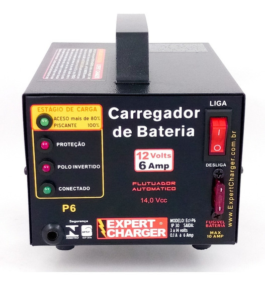 Carregador Baterias 12 Volts Automotivo, Moto,jet, Nobreak