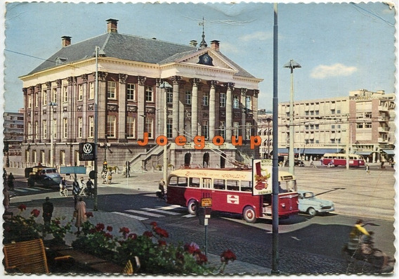 Postal Colectivo Electrico Trolebus Broningen Holanda 1960