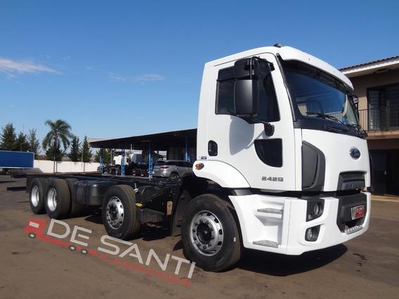 Ford Cargo 2429 8x2 2012/13 No Chassis De Santi Caminhões