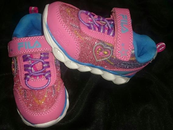 Zapatos Fila De Niña Talla 22-23... Con Luces..!