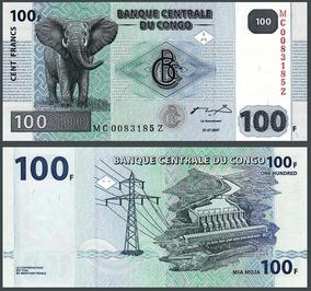 Congo (ex-zaire) 100 Francos 2007 P. New Fe (g&d) Tchequito