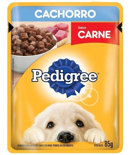 Imagen 1 de 2 de Pouch Pedigree Cachorro Carne 85 Grs (caja X12)