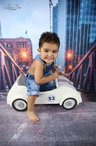 Mini Carro Herbie - Fotos Newborn - Props Newborn -