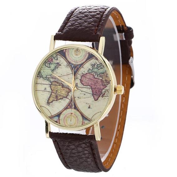 Relógio Mapa Vintage