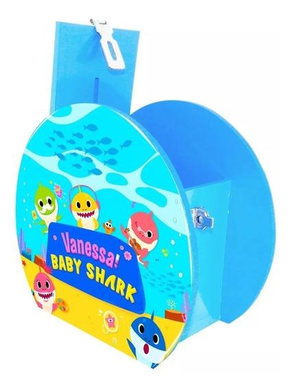 Alcancía Dulcero Centro Mesa Baby Shark Personalizado