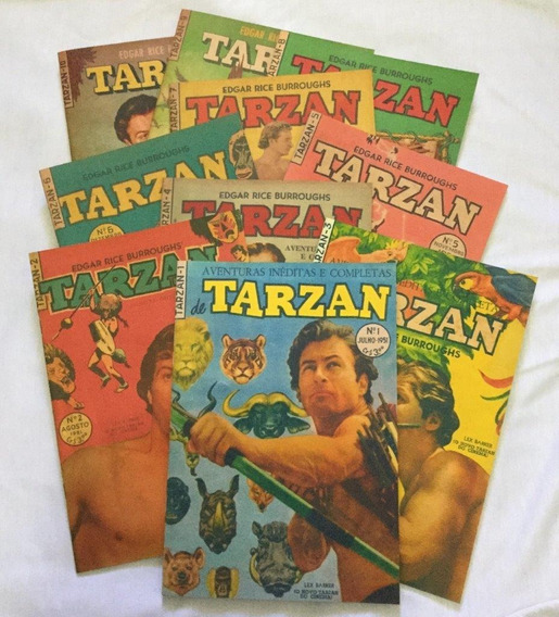 Lote Tarzan - 1º Série - 1 A 10 Em Fac-símile - Frete Grátis