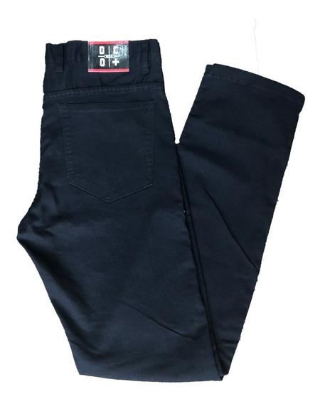 Pantalon De Jean Recto Elastizado