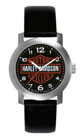 Relogio Harley Davidson Bar & Shield Pulseira Couro Original