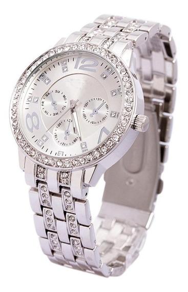 Relógio Feminino Promoção Original Luxo Dourado Prata Rose