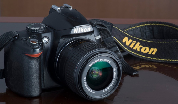 Camera Nikon D3000 + Lente 18-55mm 3.5-5.6 G Vrii Semi_novo