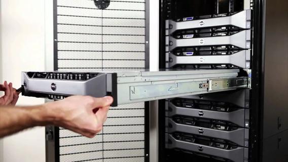 Trilhos + Organizador De Cabos Para Servidor Dell R710 Rack