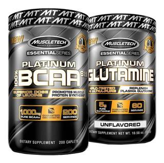 Kit Platinum Bcaa 8:1:1 (200 Caps) + Platinum Glutamine 300g