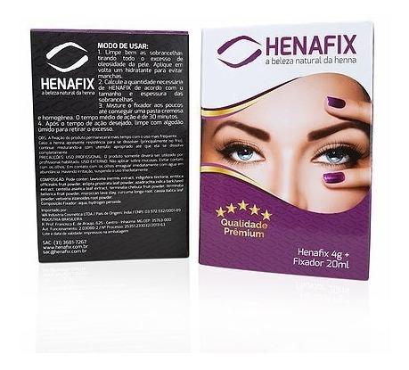 Henna Henafix Preto Alta Fixação Lançamento Sobrancelhas