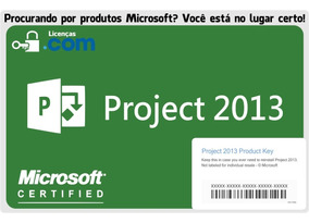 Microsoft Project 2013 Professional Esd + Nota Fiscal