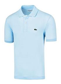 Playera Polo Vestir Lacoste Hombre Logo Pol Azul Dtt 64786