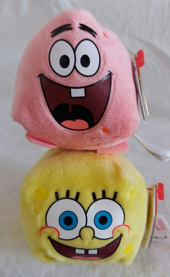 Pelúcia Ty Mini Bob Esponja E Patrick Teeny Tys Collection