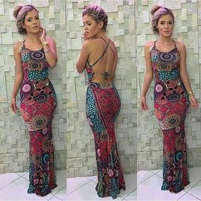Vestido Feminino Longo Rabo De Sereia Drapeado No Bumbum