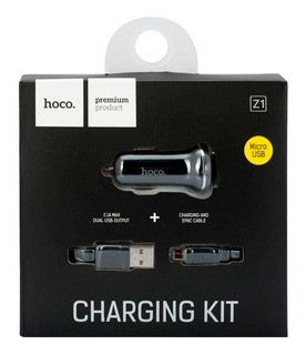 Cargador Auto Doble Usb Con Cable Premium Hoco Z1 Micro Usb
