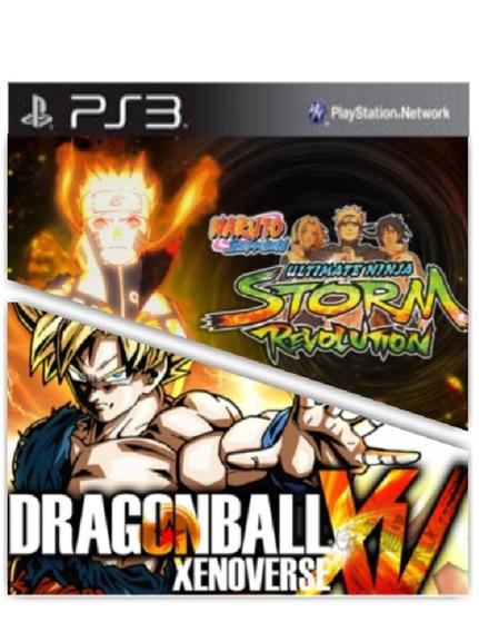 Combo Dbz Xenoverse E Naruto Ps3 Jogo Original Psn