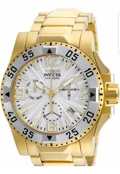 Relógio Invicta Excursion 23905 Ouro 18k Original