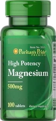 Imagen 1 de 3 de Magnesio Magnesium 500 Mg 100 Tabletas Importado Usa