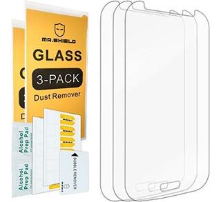 3pack Mr Shield Para Samsung Galaxy Grand Neo Plus Cristal T