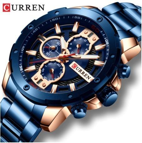 Relógio Curren 8336 - Pulseira De Metal - Luxo Executivo