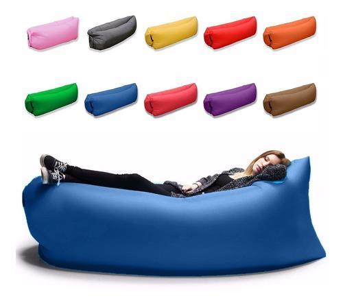 Pack X4 Sillon Inflable Flotador Lazy Bag Reposera Tumbona