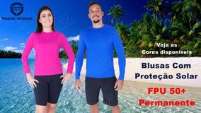 5 Blusas Segunda Pele Térmica Praia Piscina Proteção Solar