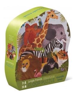 Rompecabezas Puzzle De Piso Animales Selva 36 Piezas C Creek