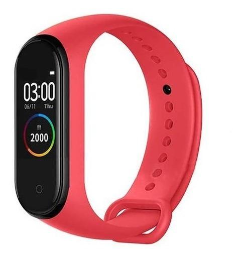 Relógio Pulseira Inteligente Smartband M4 Vermelho
