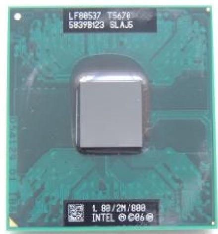 Processador Intel T5670 Para Notebook 1.80/2m/800