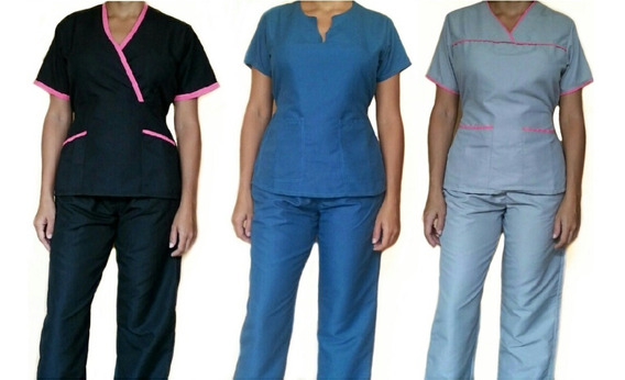 Uniformes Médicos En Microfibra Conjunto Completo