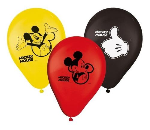 Balão De Látex Impresso 9 Polegadas Mickey Clássico