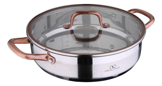 Olla Baja Bergner 28x7 Cm Acero Inoxidable Infinity Chefs