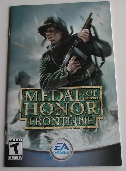 Manual Original Do Jogo Medal Of Honor Frontline Ps2 Origina