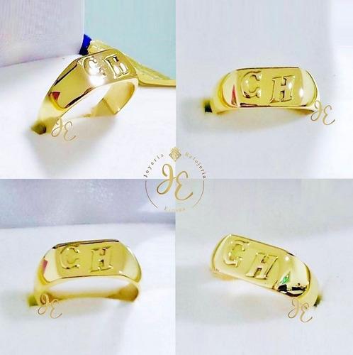 Anillo De Oro Amarillo Ley 18k Sortija Hombre Cc_83 Jespaña