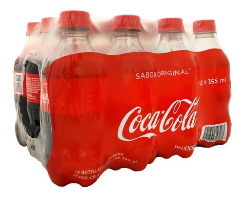 Refresco Coca Cola Original 12 Botellas De 355 Ml C/u
