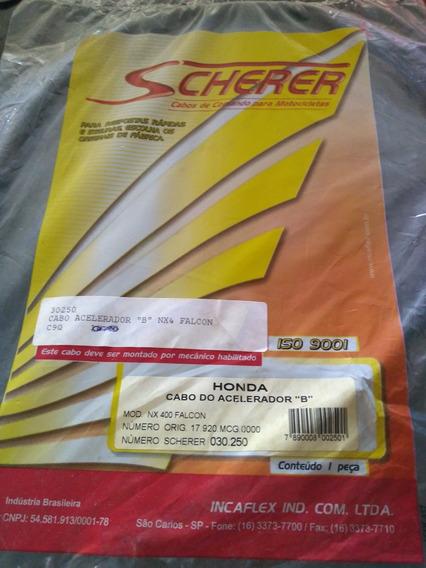 Cabo Acelerador B Honda Nx 400 Falcon Scherer Novo