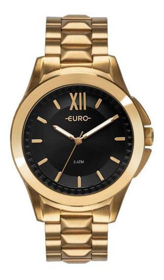 Relógio Feminino Euro Spike Fever Power Dourado - Original