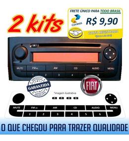 2 Kits Adesivo 3 Camadas - Rádio Fiat Linea E Punto