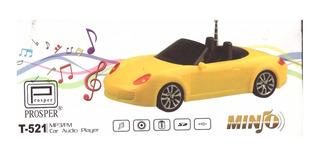 Caixa De Som -mini Carro Conversilvel Portatil Fm/mp3